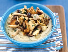 Recipe for Truffled Mushrooms With Whipped Beans