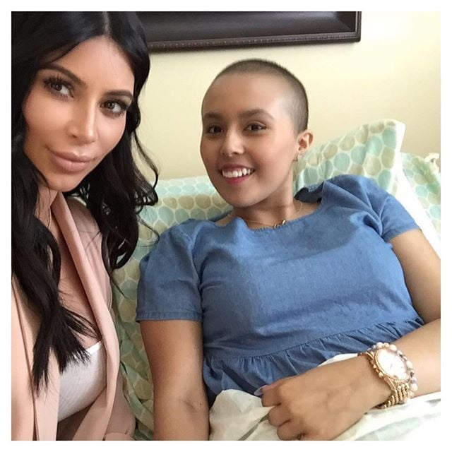 Kim Kardashian and Mason Disick's Make-A-Wish Visit   Photos