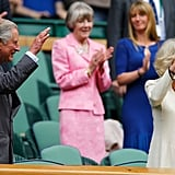 Prince Charles and Camilla attended Wimbledon 2012.
