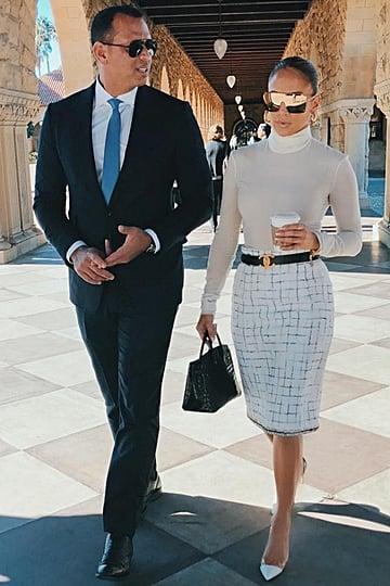 Jennifer Lopez and Alex Rodriguez Wearing Sunglasses 2018