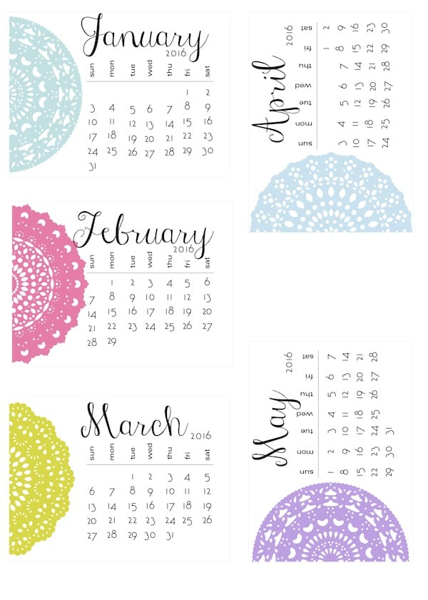 Self Made Calendar 2016 : Free printable calendars popsugar australia smart