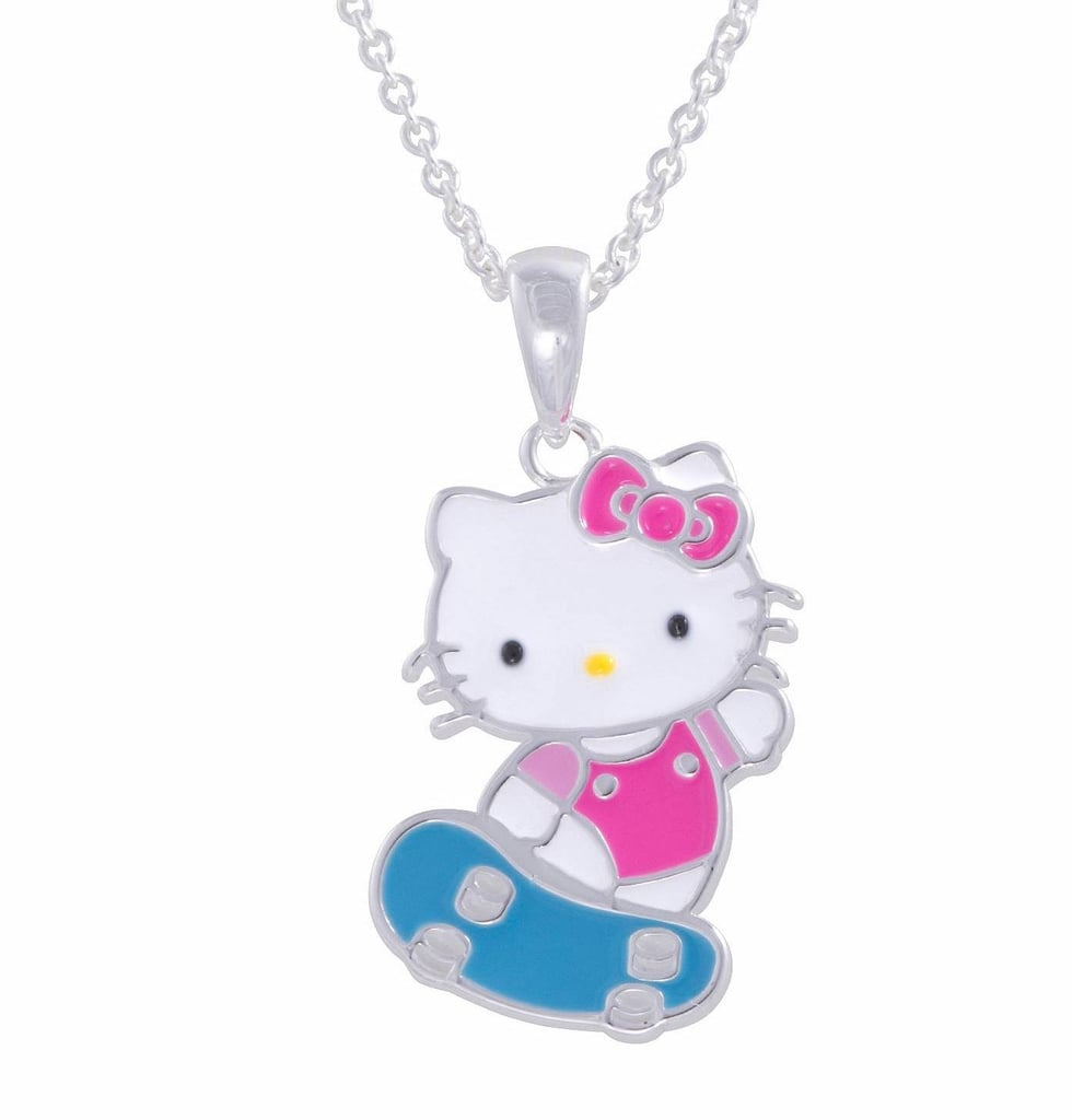Hello Kitty Skateboarding Pendant