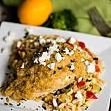 Hummus Baked Chicken With Feta and Orzo