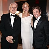 She hung out with comedy legends Steve Martin and Martin Short at the Vanity Fair Oscars afterparty in February 2012.