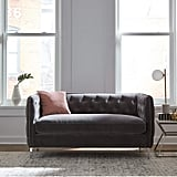 Rivet Eva Tufted Mid-Century Velvet Down-Filled Loveseat