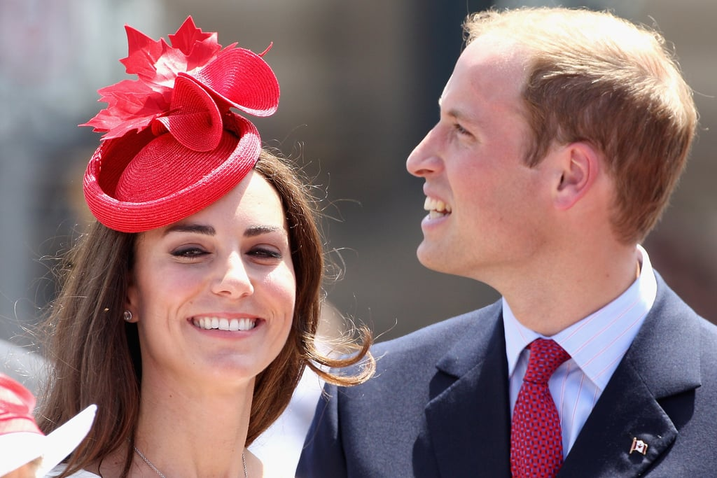 Newlyweds Prince William and Kate Middleton flash smiles on Canada Day.