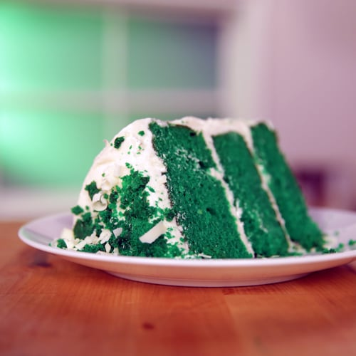 Green Velvet Cake With White Chocolate Cream Cheese Frosting