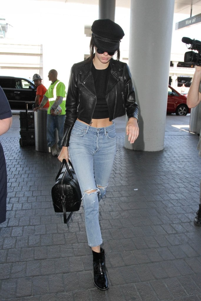 Kendall Jenner Incorporated the Accessory Into Her Airport Look