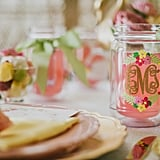 Each guest received a monogrammed tumbler from LylaBug Designs, which also served as table cards.