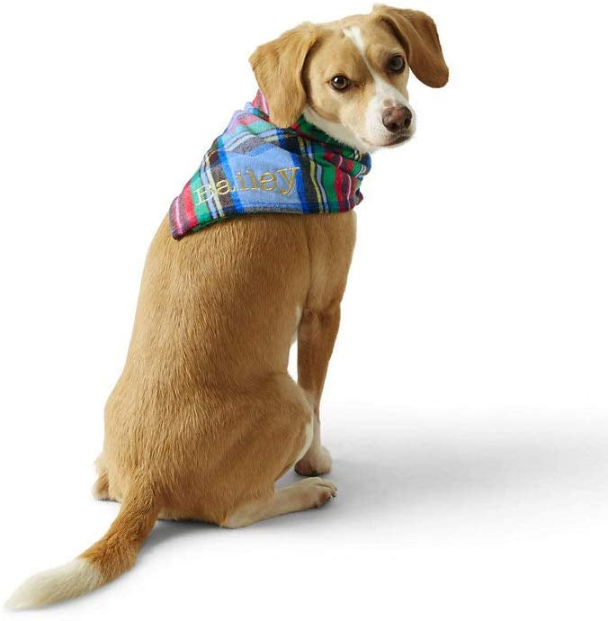 Lands' End Flannel Dog Bandana
