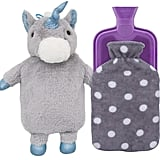 HomeTop Premium Classic Rubber Hot-Water Bottle With Cute Unicorn Cover and Soft Fleece Cover ($20)