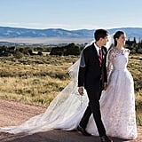 """Allison shared a photo of herself and her new husband, Ricky Van Veen, writing, """"9.19.15 Dress by @oscarprgirl Photo by @christianothstudio."""""""