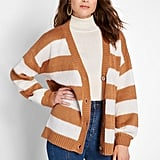 Modcloth Striped Commitment Cardigan
