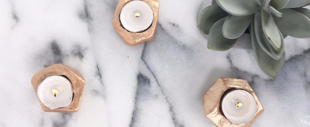 DIY Rose Gold Tea Light Holders