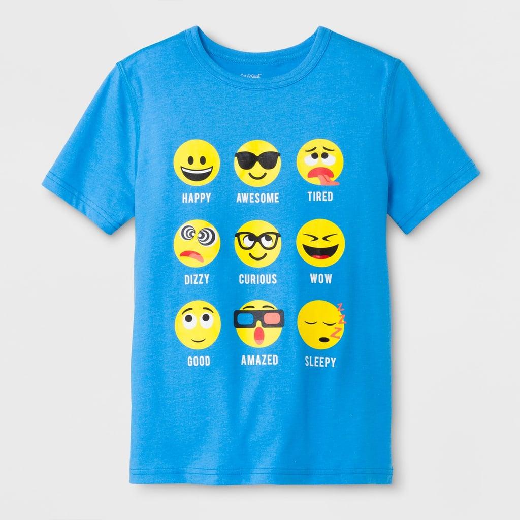 Short Sleeve Emojis Graphic T-Shirt