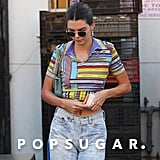 Kendall Jenner Crop Top With Book Print