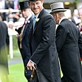 In June, he looked like a real-life Prince Charming when he arrived at the Royal Ascot wearing a top hat and tails.