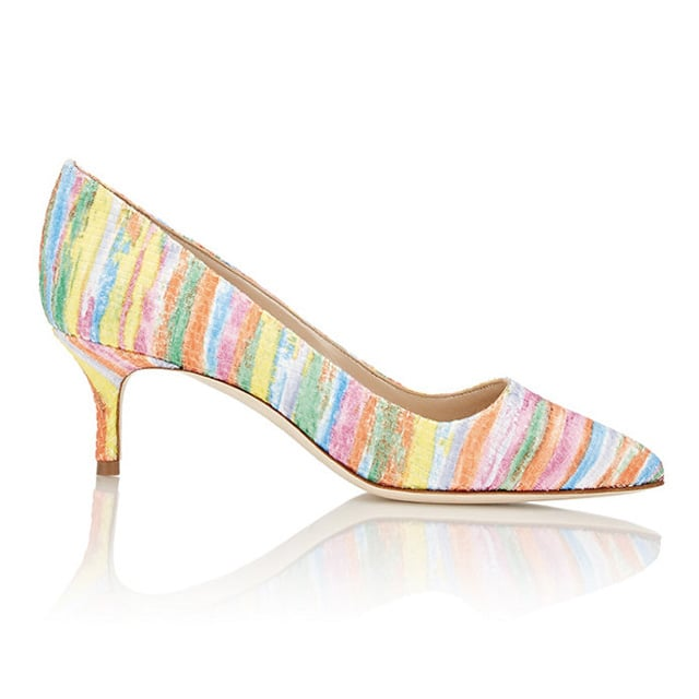 Manolo Blahnik Rainbow Fabric BB Pumps ($695)