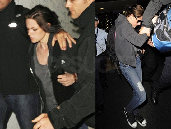 Pictures of Kristen Stewart at the Sydney Airport Leaving Australia