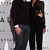 Daniel Craig and Naomie Harris posed together at a photocall in Rome.