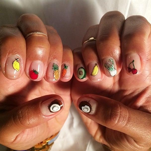 Her Nail-Art Inspiration | Hannah Bronfman Beauty | POPSUGAR Beauty ...