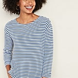 Old Navy French Terry Mariner-Stripe Rolled-Cuff Tee