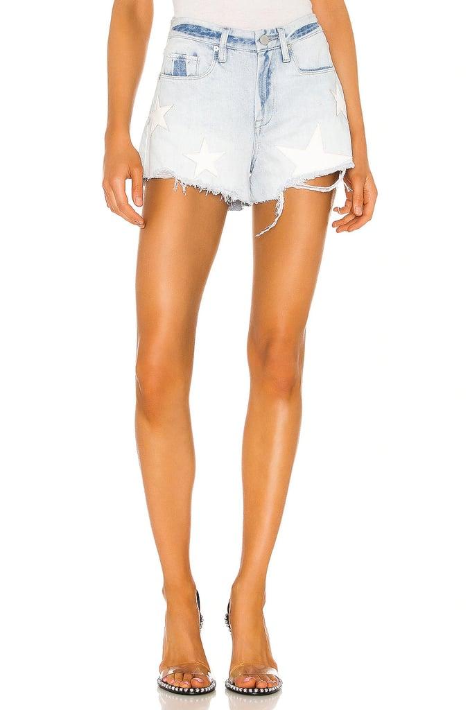 Shop Sarah's Exact Star-Patch Shorts