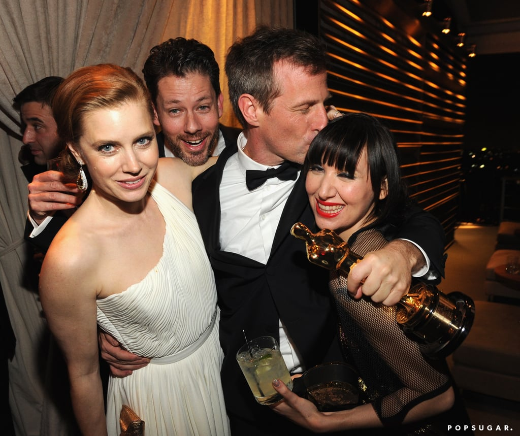 Amy Adams and original screenplay winner Spike Jonze