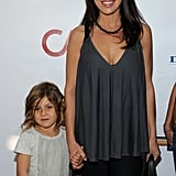 Rosa Blasi had her daughter with her as they attended the Milk and Bookies event in Los Angeles.