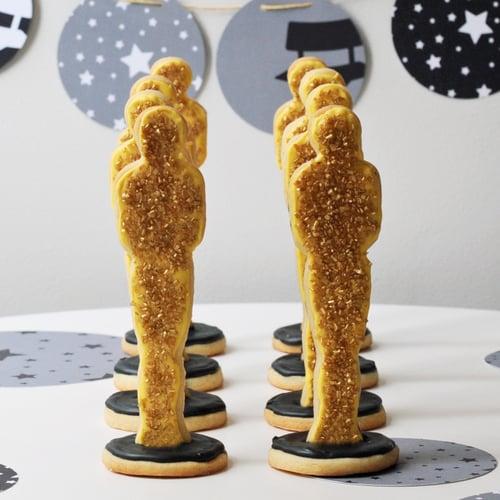 Oscars-Statue Sugar Cookies