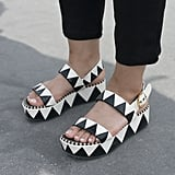 Be right back — going to snag some of these super cool black-and-white patterned Sergio Rossis.