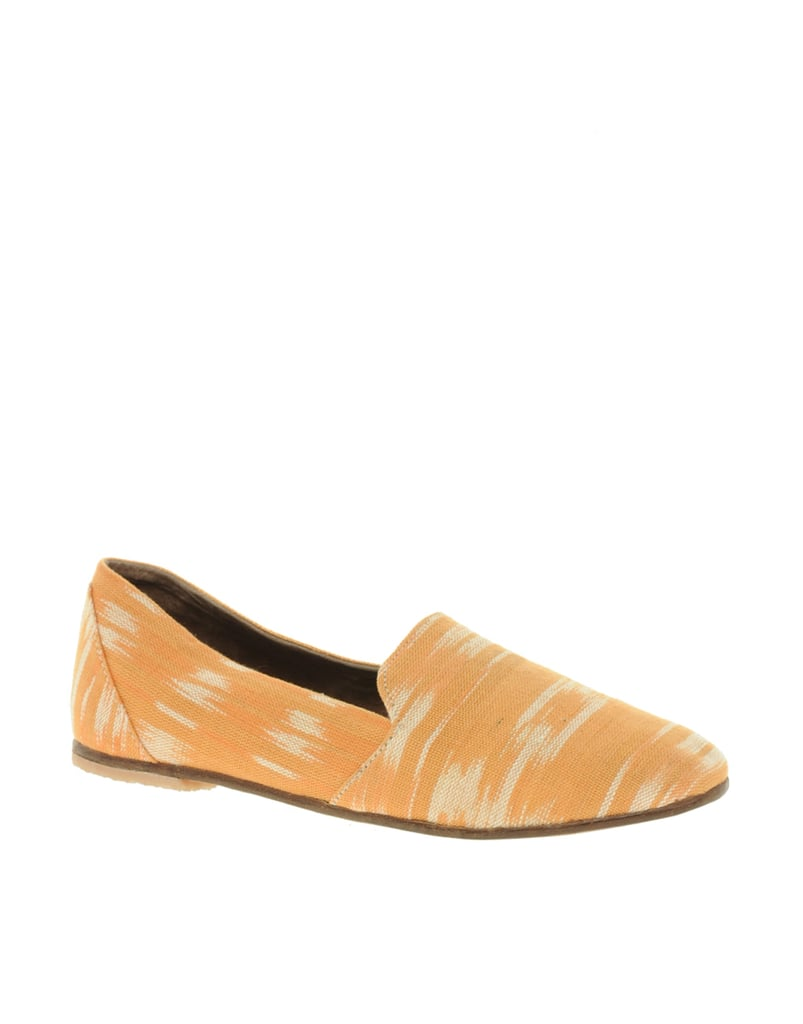 Of the more bohemian variety, these slip-ons would look perfect with your LWDs now, boyfriend jeans later.  Osborn Simple Loafers ($143, originally $238)
