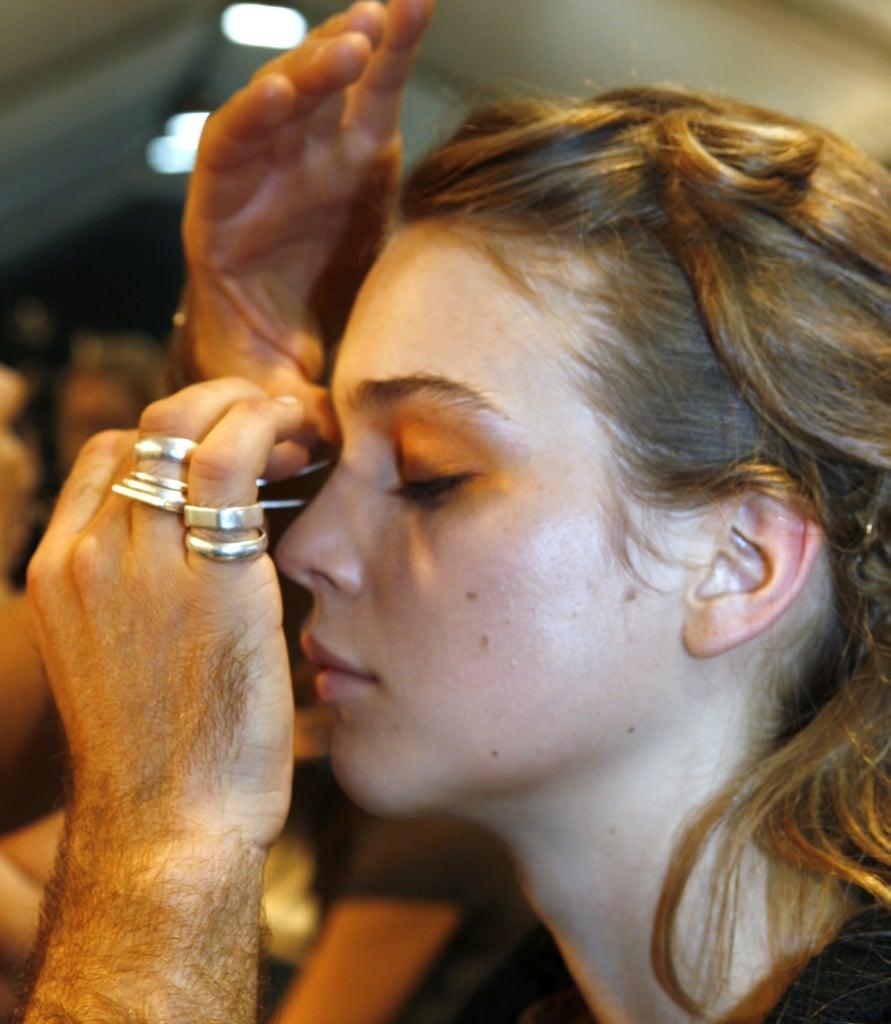 Summer 2008 Catwalk Beauty Trend Orange Makeup MAC M'Orange Lipstick Beauty Tips From Vogue Makeup Artist Becca Harrison