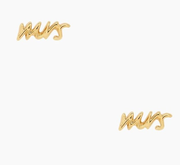 Kate Spade Mrs. Gold Stud Earrings