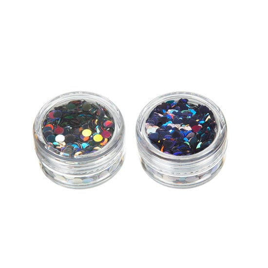 Glitter Pots in Peacock By Louise Gray, approx $12.70