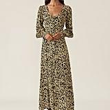 Ganni Crepe Maxi Dress