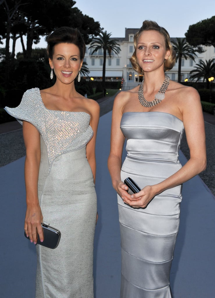 Actress Kate Beckinsale and Princess Charlene were all smiles at amfAR's Cinema Against AIDS 2010 benefit gala. Source: Getty / Pascal Le Segretain
