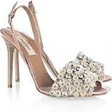 Valentino Crystal-Embellished Satin Sandals ($995)