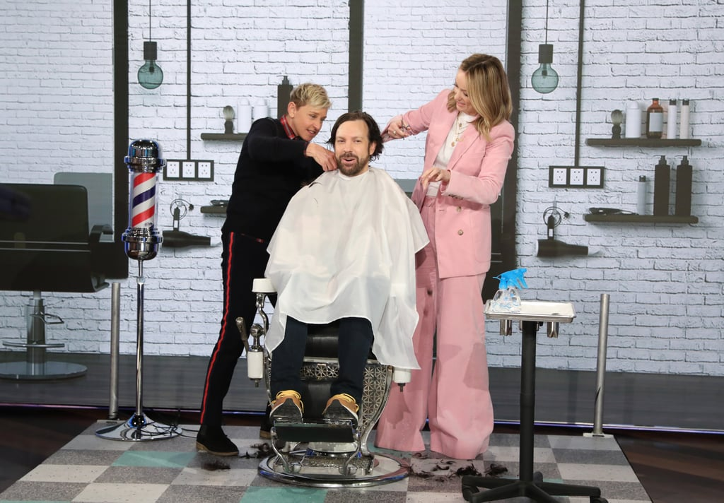 Olivia Wilde Cut Jason Sudeikis's Hair on The Ellen Show