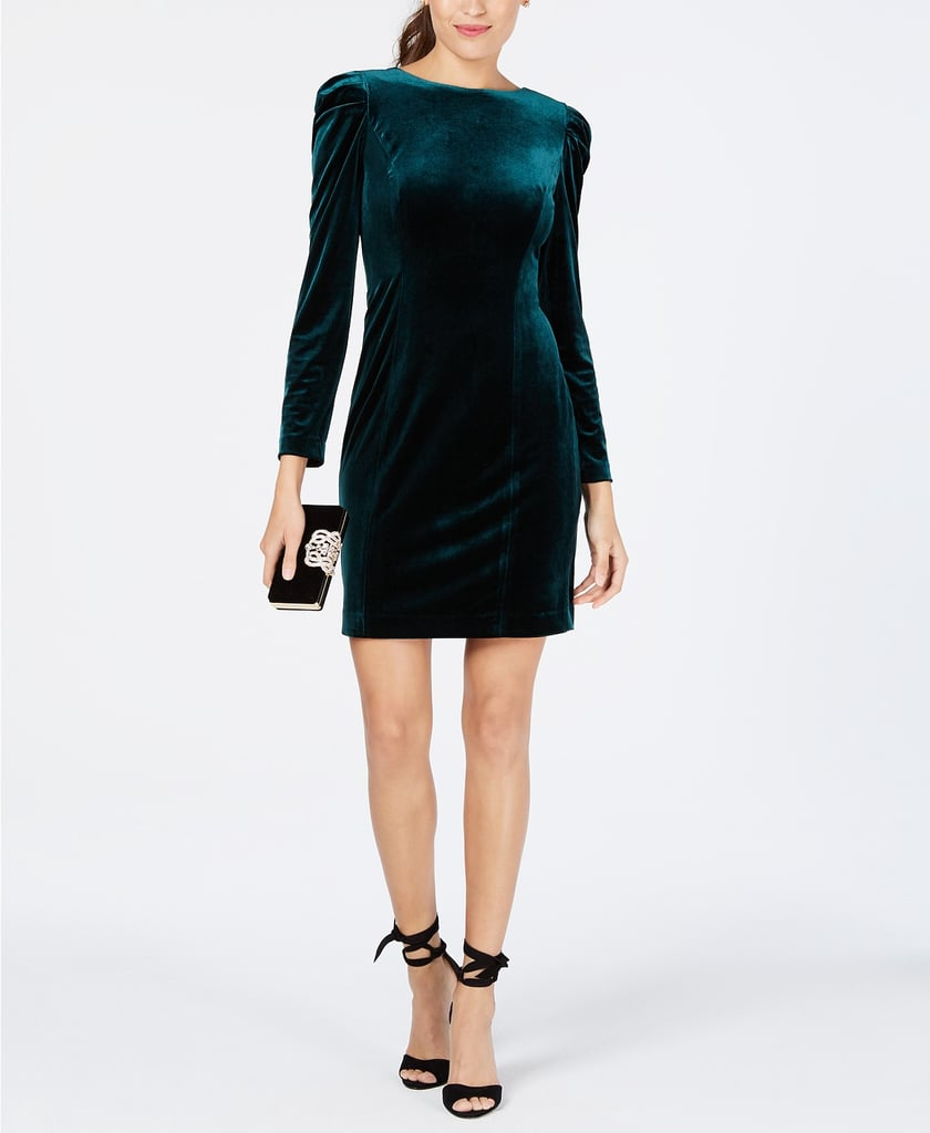 Merida: Vince Camuto Velvet Puff-Sleeve Sheath Dress