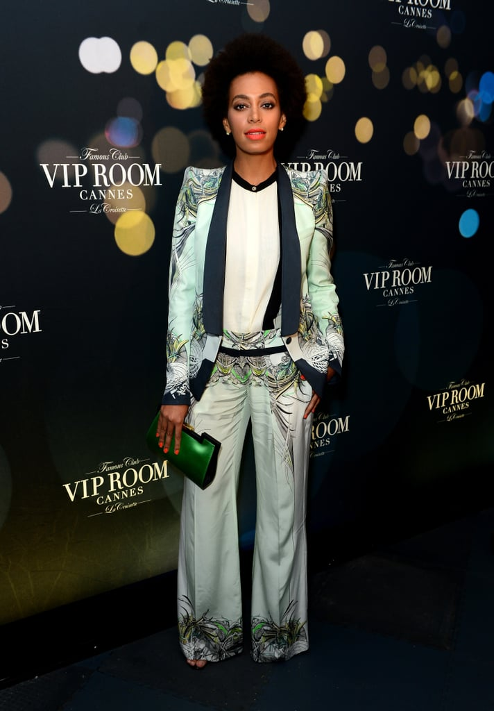 Solange Knowles in Roberto Cavalli at Belvedere's party in Cannes.