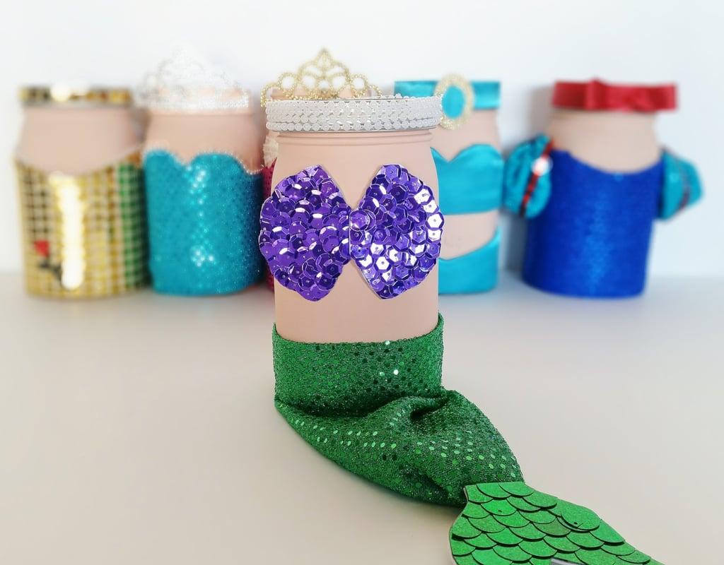 Mermaid Mason Jar Centerpiece Mermaid Birthday Party Decorations