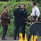 Matt Damon was on the set of The Monuments Men on Thursday.