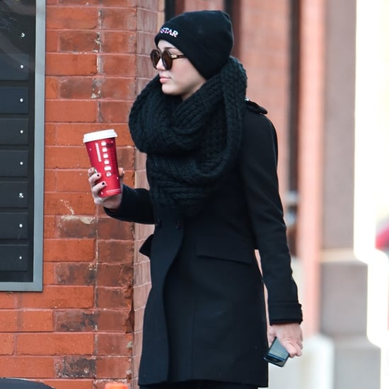 Miley Cyrus Holding a Starbucks Cup | Pictures