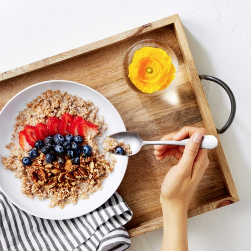 Breakfast: Hot Bulgur Cereal With Strawberries