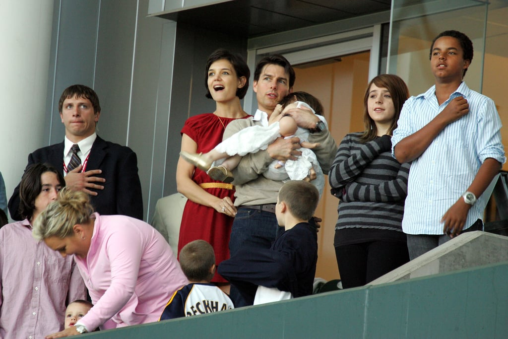 Tom Cruise and Katie Holmes brought Suri, Connor, and Isabella along to watch David Beckham play in LA in May 2008.
