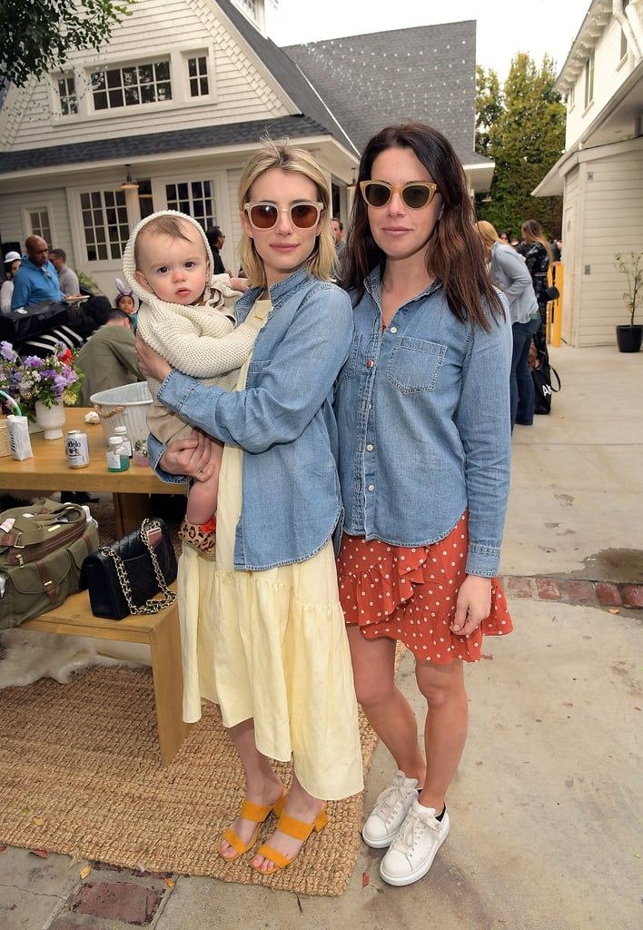 One only needs to look at Emma Roberts's latest outfit to know she's a fashion girl. She attended AKID Brand's third annual The Egg Hunt festivities on March 17 and wore a summery look consisting of several cute pieces. The star rocked a pale yellow Ulla Johnson dress with a denim shirt and Zac Posen sunglasses. Using a styling hack we all know — mixing high-fashion pieces with the lows — Emma completed her designer look with a pair of affordable, marigold-coloured mules. The shoes were from Nine West and cost just $109! If you're on the hunt for a springtime shoe, you might want to scoop up Emma's. She wore it with a midi dress, but we think it would look great with jeans or even a maxi skirt. Read on to see her full outfit, then buy her exact sandals plus similar selections.      Related:                                                                                                           The 1 Fashion Fact About Emma Roberts That Will Make You VERY Jealous of Her BFF
