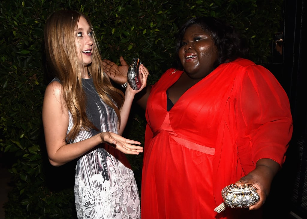 Taissa Farmiga and Gabourey Sidibe were equally enthralled with each other.