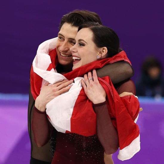 Tessa Virtue and Scott Moir Winning Gold Medal Reactions