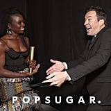 Pictured: Danai Gurira and Jimmy Fallon